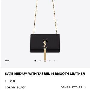 Saint Laurent Bags - Saint Laurent Kate Medium with Tassel